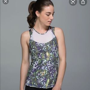 Lululemon Running In The City Tank Multi Floral